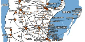 Flechabus Mapa de Cobertura - Ônibus para Argentina – Excelência no atendimento ao passageiro