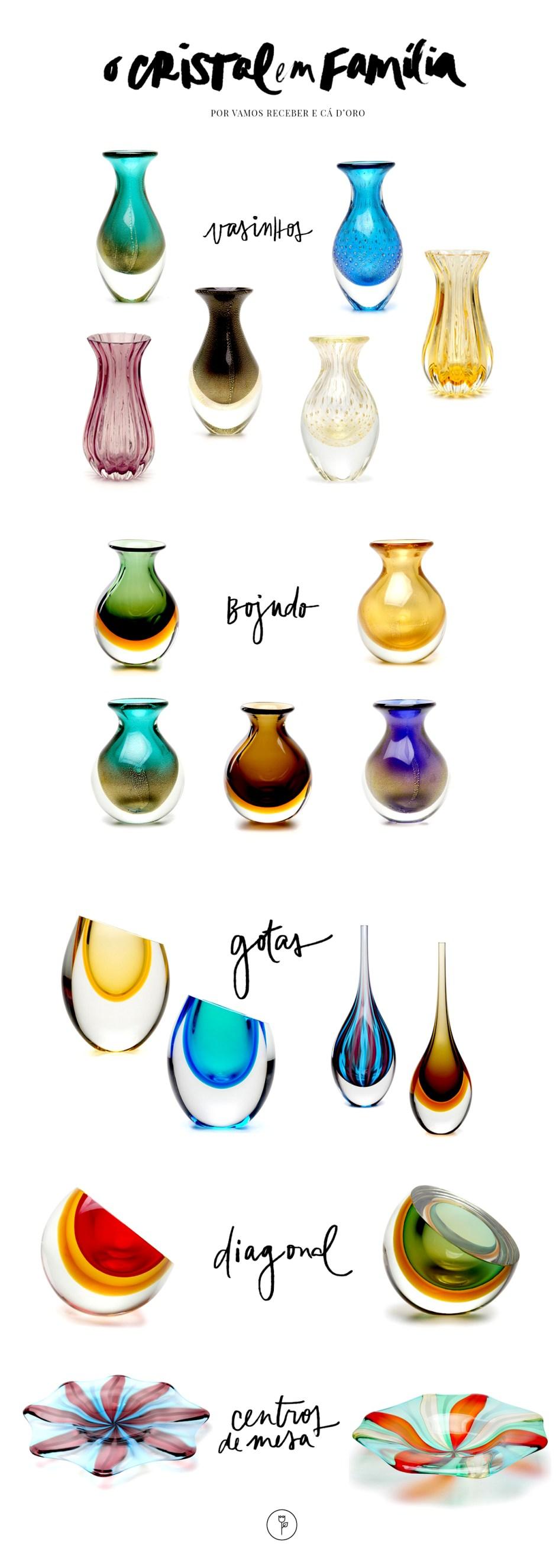 Vasos de Crista - Cristais Cá d'Oro