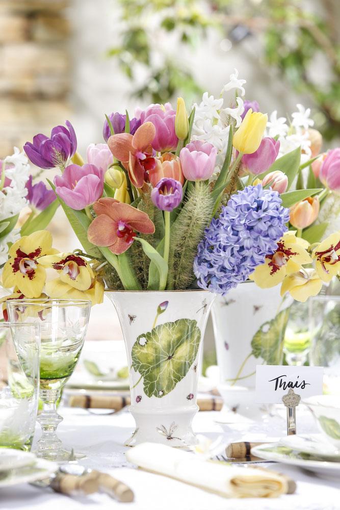 vaso da Colecao Heras e arranjo Milplantas