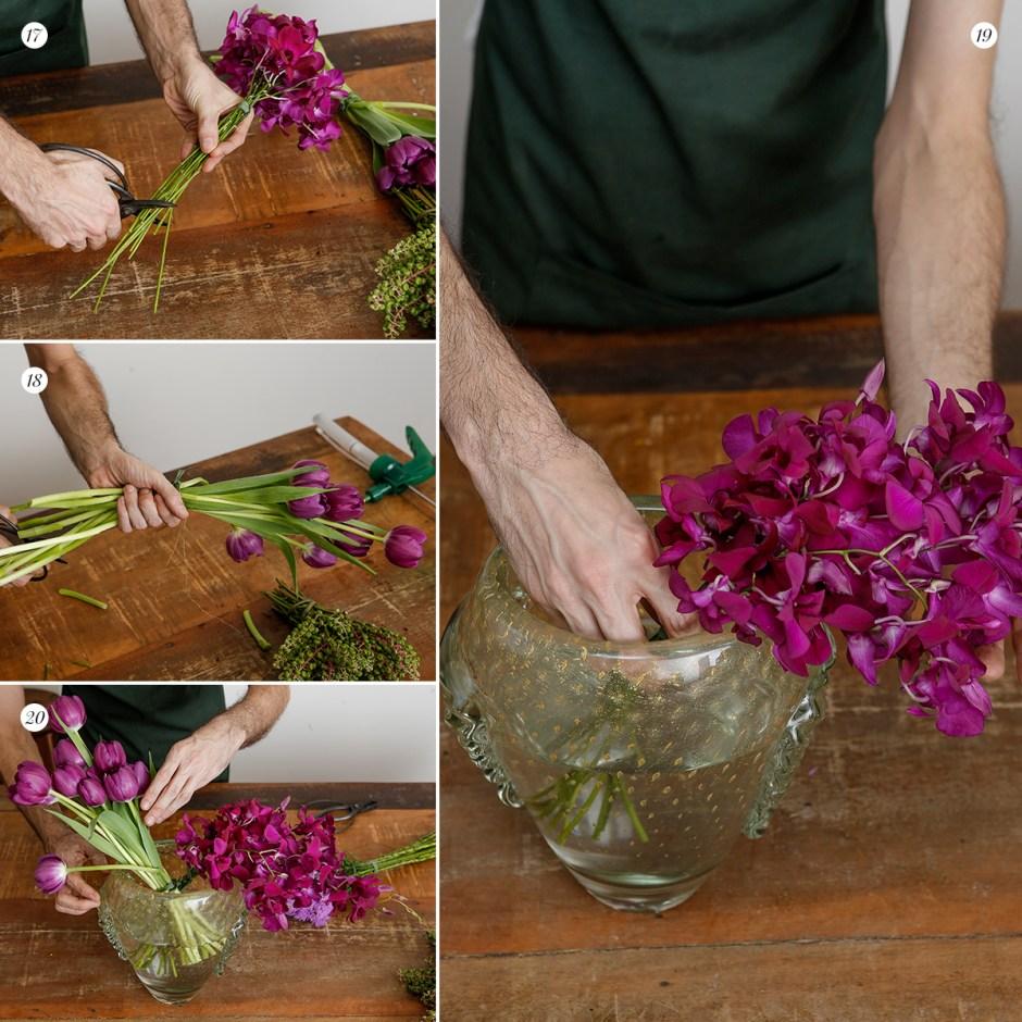 arranjo de flores passo a passo