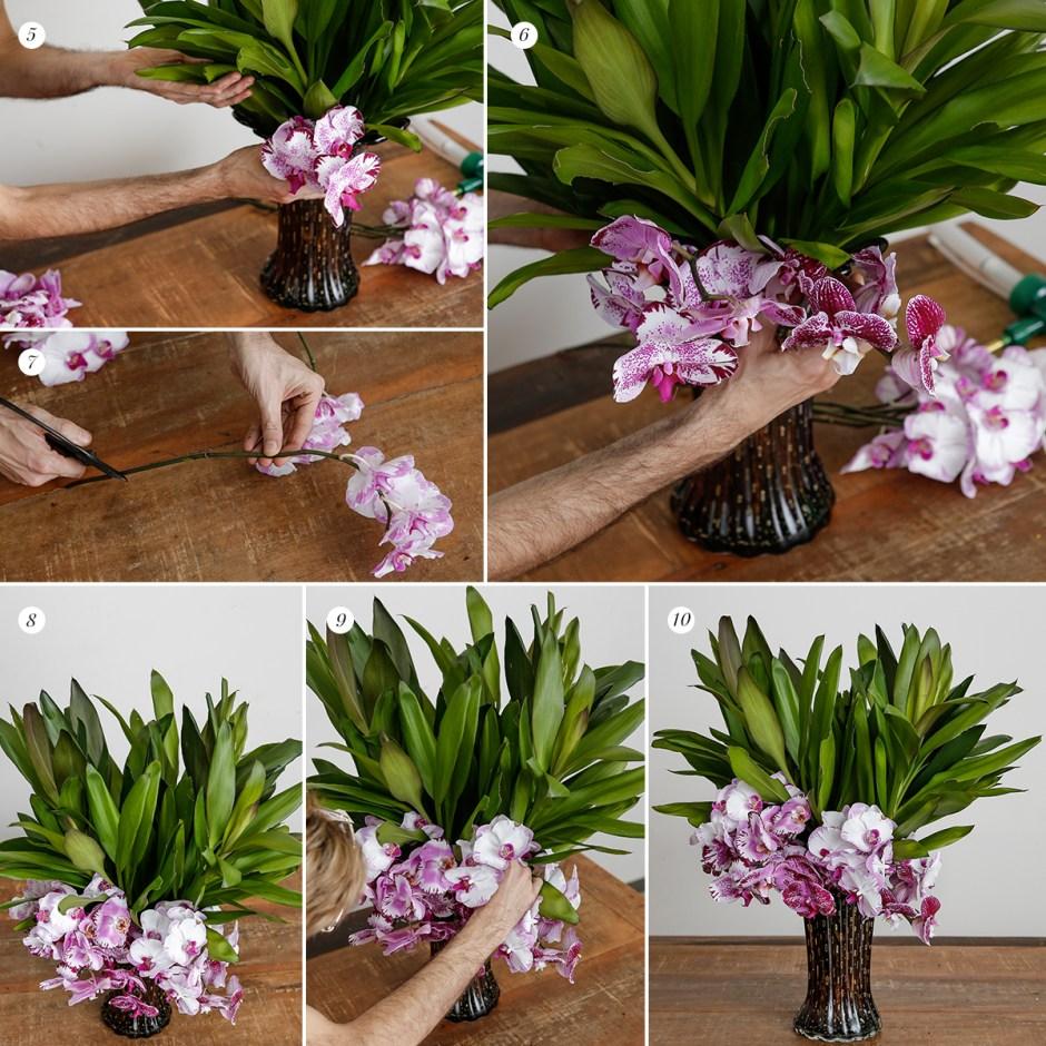 arranjo floras para mesa lateral