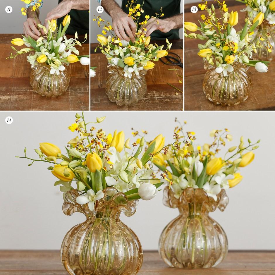 passo a passo arranjos de flores Milplantas