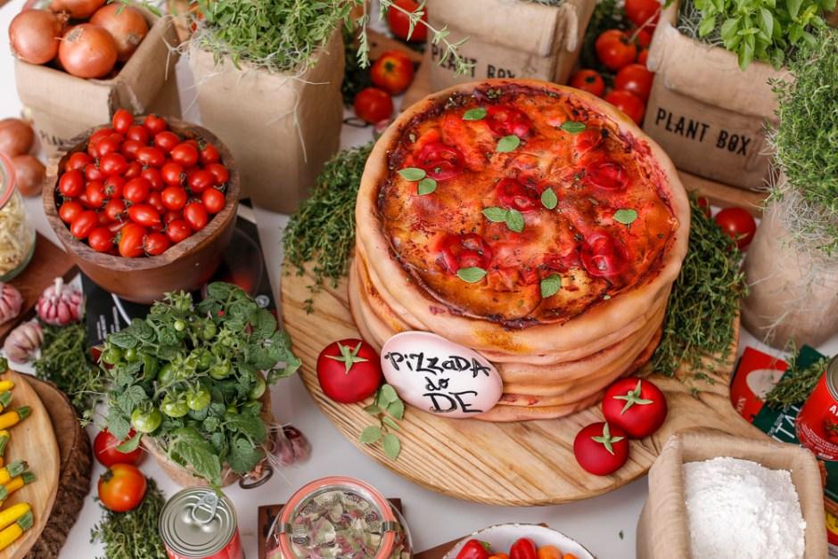 bolo de pizza para decorar