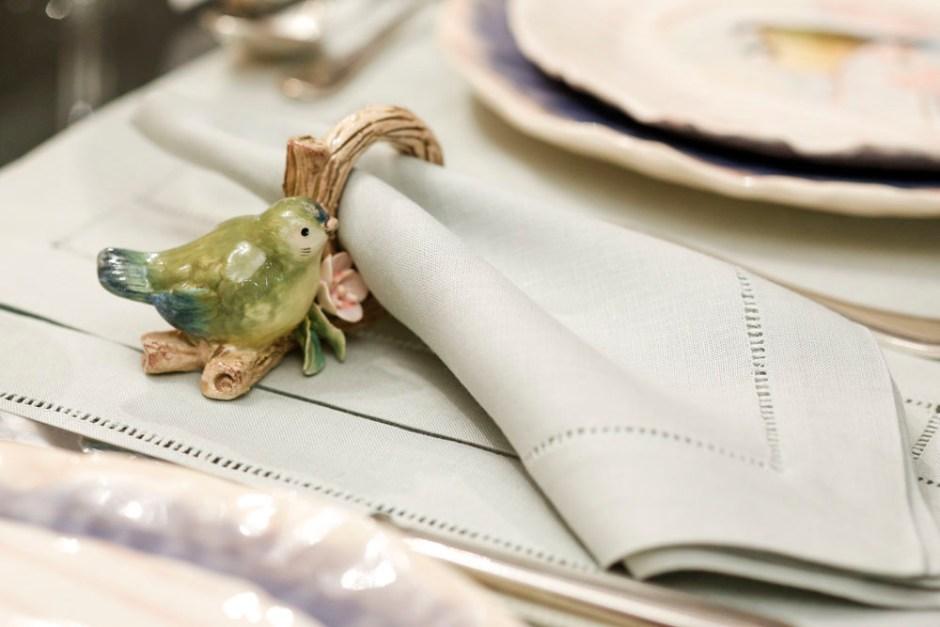 porta-guardanapo de pássaro