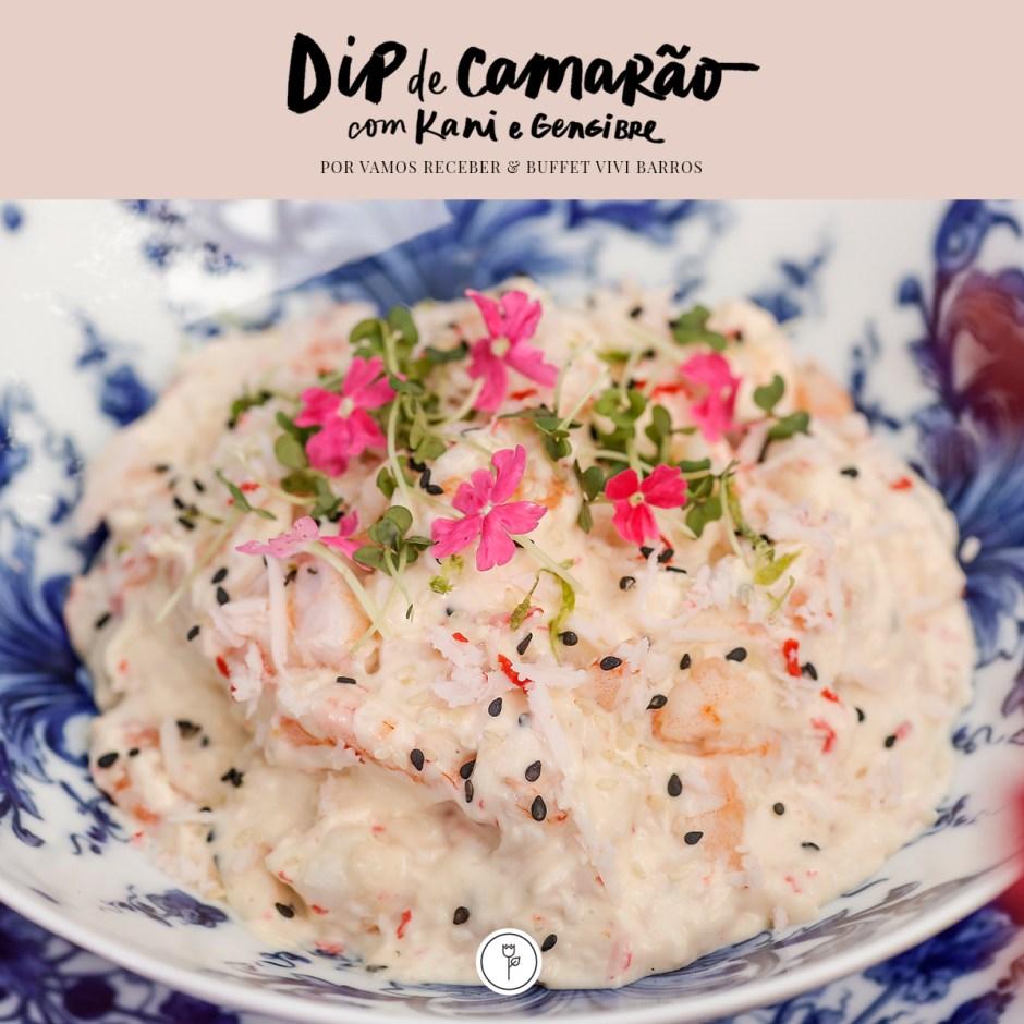 receita de dip de camarão com kani