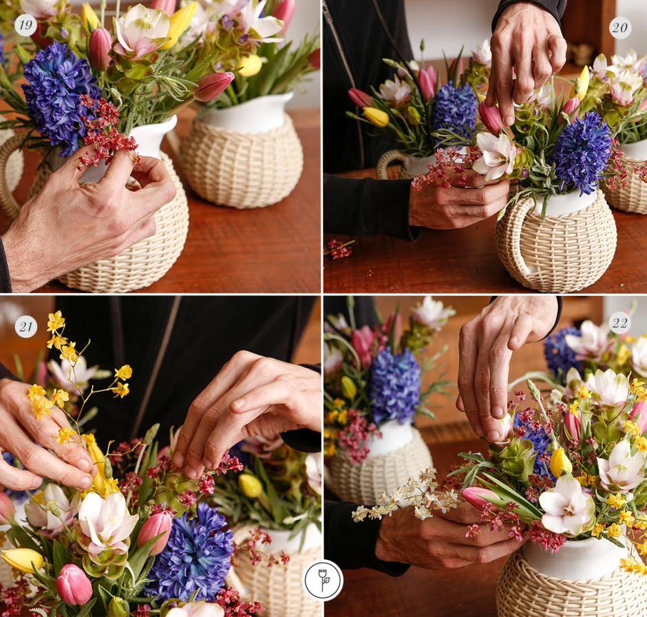 passo a passo de como fazer arranjos de flores