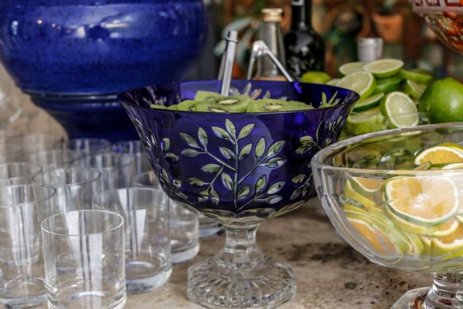 frutas para drinks no bar