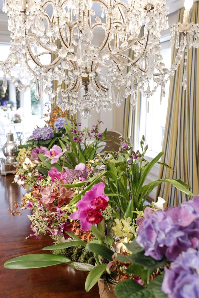 decoração com flores em festa
