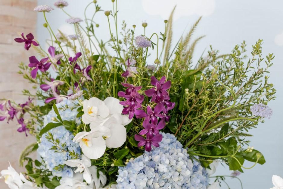 arranjos com flores delicadas