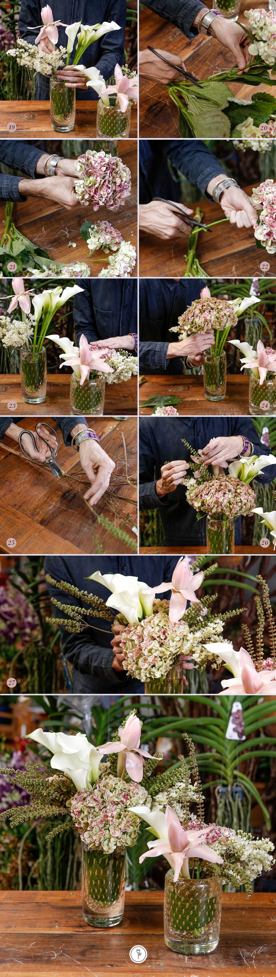 passo passo de arranjo floral para quarto