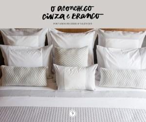 roupa de cama cinza e branco valencien