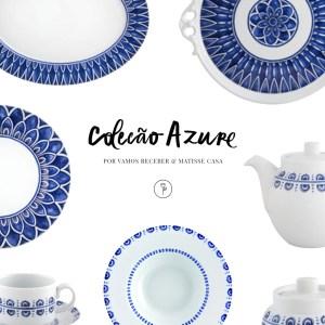 coleção apure louça azul e branca