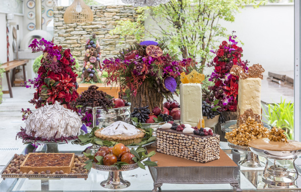 mesa de doces para o Natal