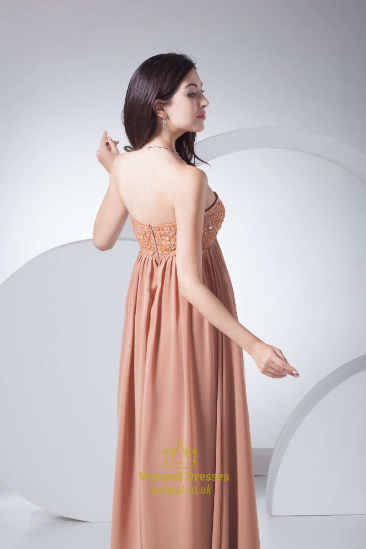 Long Strapless Chiffon DressStrapless Dresses For Women