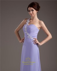 Lavender Bridesmaid Dresses Chiffon,Lavender One Shoulder