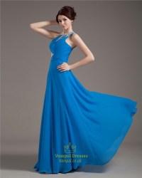 Light Blue Sequin One Shoulder Formal Prom Dress Women ...