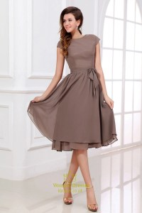 Brown Bridesmaid Dresses With Sleeves,Coffee Coloured
