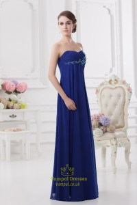 Royal Blue Bridesmaid Dresses With Pink Flowers,Strapless ...