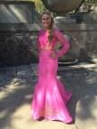 Two Piece Long Sleeve Mermaid Prom Dress