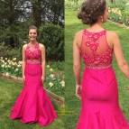 Hot Pink Mermaid Prom Dress