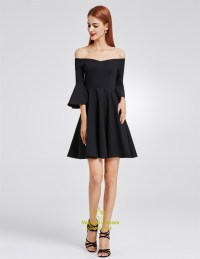 Black Off The Shoulder A-Line Short Homecoming Dress With ...
