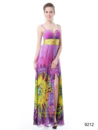 Pink Floral Prom Style Dresses,Long Floral Printed Prom ...