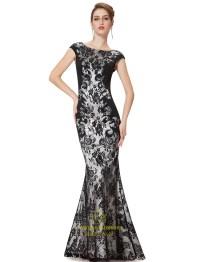 Black Mermaid Prom Dresses UK 2015