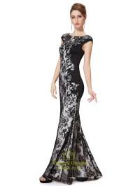 Black Lace Mermaid Prom Dresses 2015,Long Black Lace ...