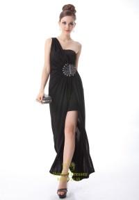 Black One Shoulder Prom Dresses 2015,Long Black One ...