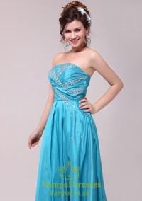 Aqua Blue Prom Dresses 2015,Light Sky Blue Strapless Prom ...