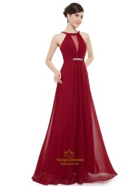 Maroon Chiffon Prom Dress | www.imgkid.com - The Image Kid ...