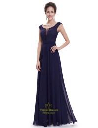 Long Navy Lace Bridesmaid Dresses   www.pixshark.com ...