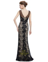 Elegant Black Mermaid Prom Dress With Lace Applique ...