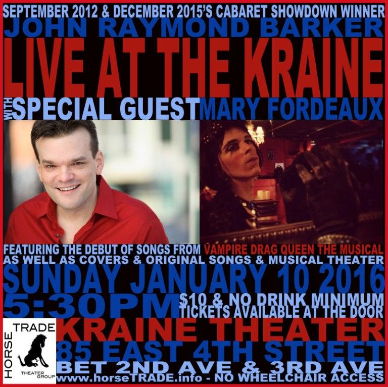 Live at the Kraine cabaret poster