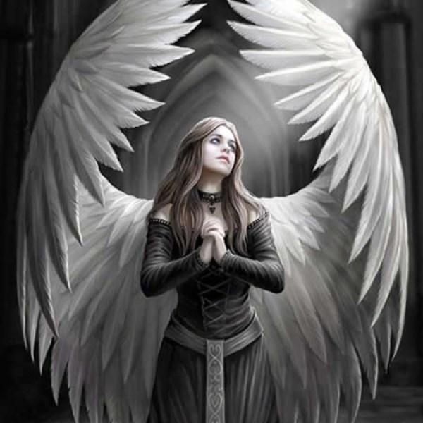 Anne Stokes Prayer for a Fallen Angel