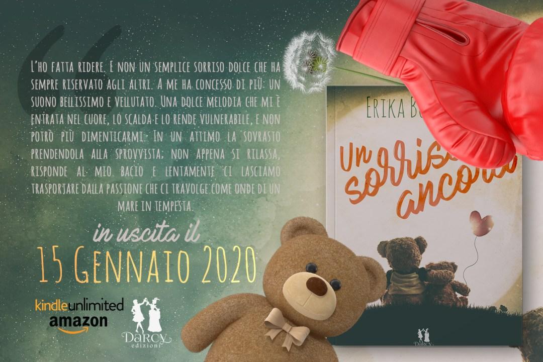 Un sorriso ancora di Erika Bottoglia Darcy Edizioni in uscita il 15 gennaio 2020 contemprary romance