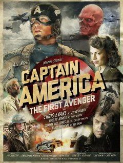 Stanley Tucci, Chris Evans, Hugo Weaving, and Hayley Atwell in Captain America- The First Avenger (2011)