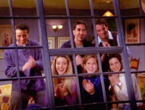 Jennifer Aniston, Courteney Cox, Lisa Kudrow, Matt LeBlanc, Matthew Perry, and David Schwimmer in Friends (1994)