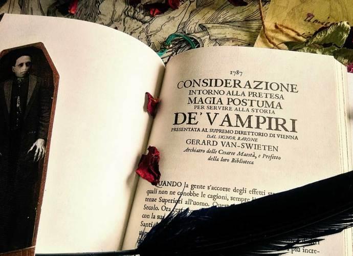 prima pagina Considerazione intorno alla pretesa Magia Postuma per servire alla storia de' Vampiri di Gerard Van-Swieten – Draculea