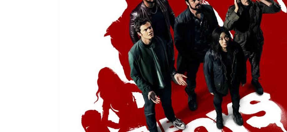 Laz Alonso, Karl Urban, Jack Quaid, Tomer Capon, and Karen Fukuhara in The Boys (2019)