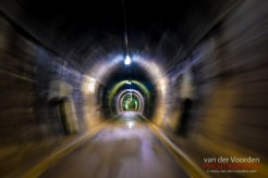 Fahrt durch ehemaligen Zugtunnel