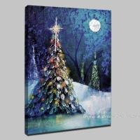 handpainted christmas tree modern oil paintings on canvas ...