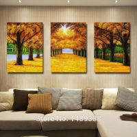sell autumn scenery oil painting on canvas wall art prints ...