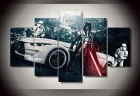 framed printed star wars movie 5 piece picture painting ...