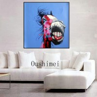 handmade modern oil paintings blue pictures on canvas ...