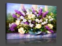 Dark Purple Flower Canvas Painting