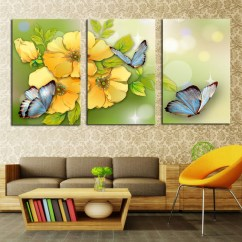 3 Piece Living Room Set Under 500 Modern With Persian Rug Yellow Flower And Butterfly Home Wall Decor ...