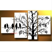 hand-painted modern home decorative 5 pieces canvas art ...