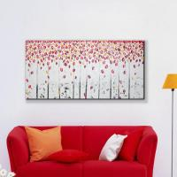 modern wall art home decoration red tree romantic leaf ...