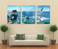 3 panel canvas art home decoration wall art beach canvas ...